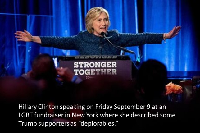 Hillary Clinton Deplorables