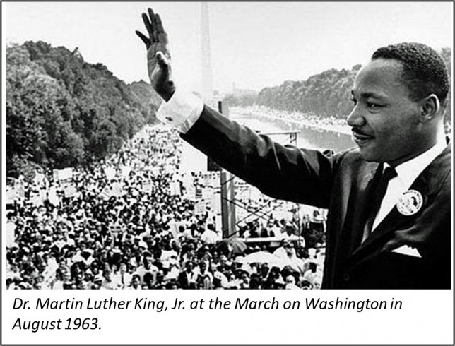 Dr. Martin Luther King Jr. at the March on Washington
