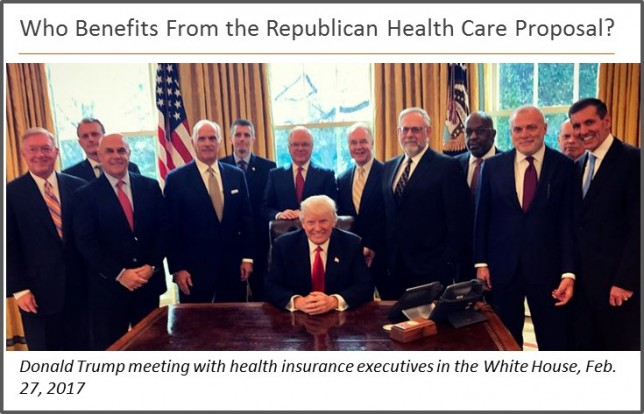 Donald Trump meeting with health insurance executives at the White House